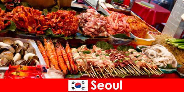 Seul também é famosa entre os viajantes por sua comida de rua deliciosa e criativa