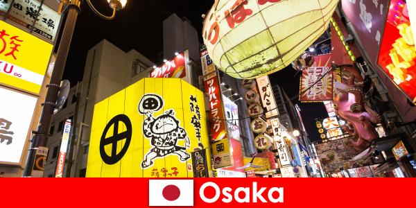O entretenimento cômico é sempre o tema principal para os estrangeiros em Osaka