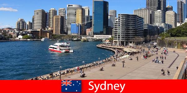 Vistas panorâmicas de toda a cidade de Sydney, Austrália para visitantes de todo o mundo