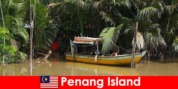 Viagem de longa distância para caminhantes pela selva da Ilha de Penang, Malásia